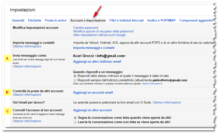 scaricare email gmail
