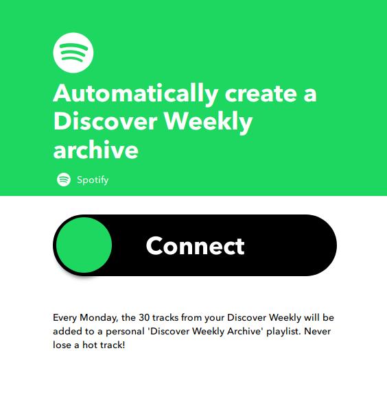 Applet per aggiungere le canzoni della Discovery Weekly di Spotify in una playlist dedicata