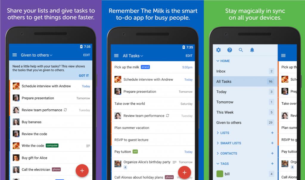 app cose da fare Remember the Milk Android