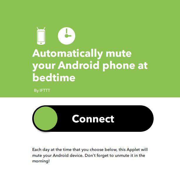 Applet per disattivare automaticamente la suoneria quando si va a dormire