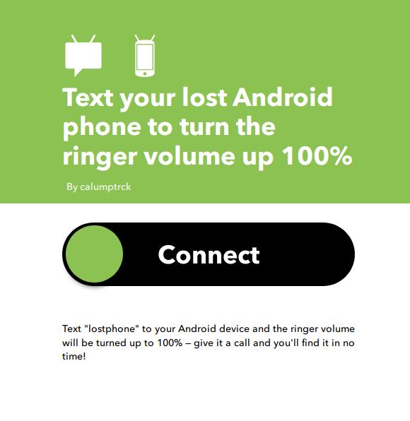 IFTTT applet per riattivare suoneria smartphone